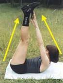 Комплекс вправ № 1 для м'язів верхньої частини черевного преса