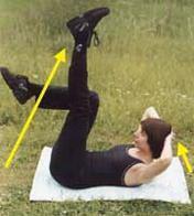 Комплекс вправ для одночасного зміцнення нижньої і верхньої частин черевного преса